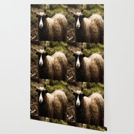 Sheep in Forest #decor #society6 Wallpaper