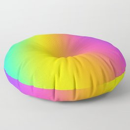 Bright Curved Rainbow Gradient Floor Pillow