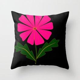 Big Pink Flower Throw Pillow