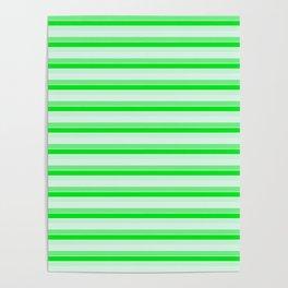 Green stripes. Poster