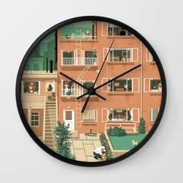 Hitchcock's Rear Window Wall Clock
