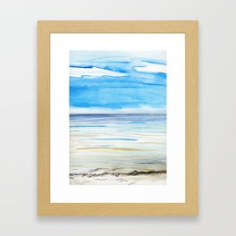Changing weather Framed Art Print