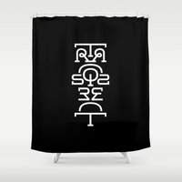 transparent Shower Curtains featuring Transparent (Totem) by John Langdon