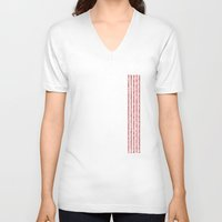 numbers V-neck T-shirts featuring NUMBERS by Joel Danielsson