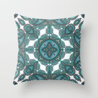 paisley Throw Pillows featuring paisley by gtrappdesign