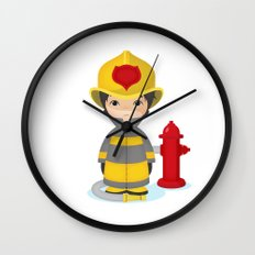 Fireman Wall Clock