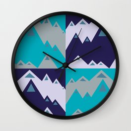 Contrasting Mountains Wall Clock