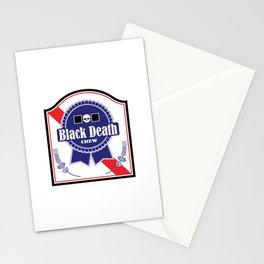 Black Death Ribbon (Color) Stationery Cards