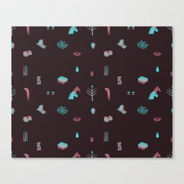 Eery pattern Canvas Print