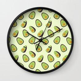 Happy Avocados Wall Clock