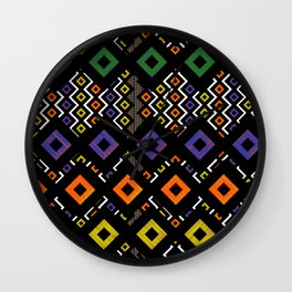 Funky color square Wall Clock