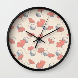 Delicate Ginkgo&Dots #society6 #decor #buyart Wall Clock