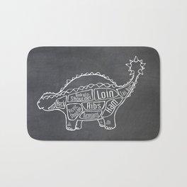 Ankylosaurus Dinosaur (A.K.A. Armored Lizard) Butcher Meat Diagram Bath Mat