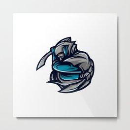 Assasin Logo Mascot Metal Print