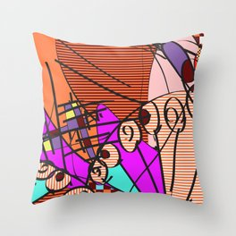 Colorful Shapes 2 Throw Pillow