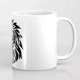 Lion face black and white Coffee Mug