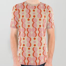 Uende Love - Geometric and bold retro shapes All Over Graphic Tee