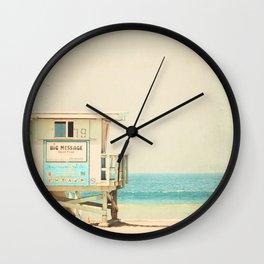White Beach Wall Clock
