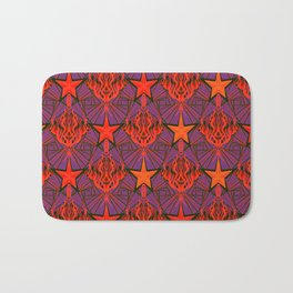 Starfire Kaleidoscope (Ruby Rocket Red) Bath Mat