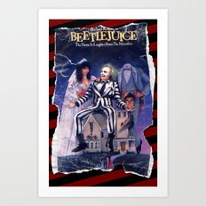 Beetlejuice: Ripped and Torn Greatness! Art Print