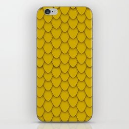 Dragon Scales in Gold iPhone Skin