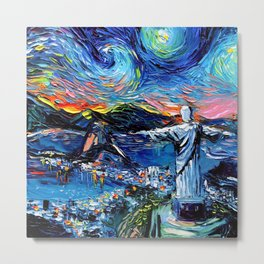 van Gogh Never Saw Christ The Redeemer Metal Print