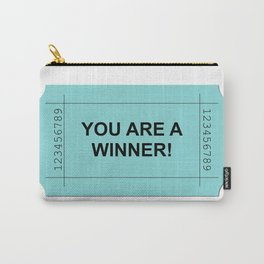 Ticket Green Carry-All Pouch