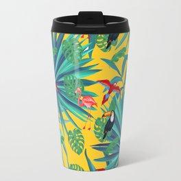 tropical yellow Travel Mug
