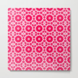 Pink Doily Metal Print
