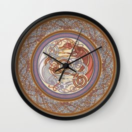 Dragon Shield Wall Clock