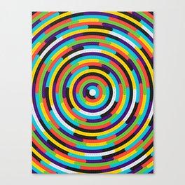 con·cen·tric Canvas Print