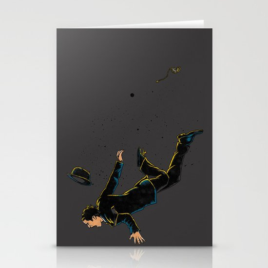 Falling Time Stationery Cards