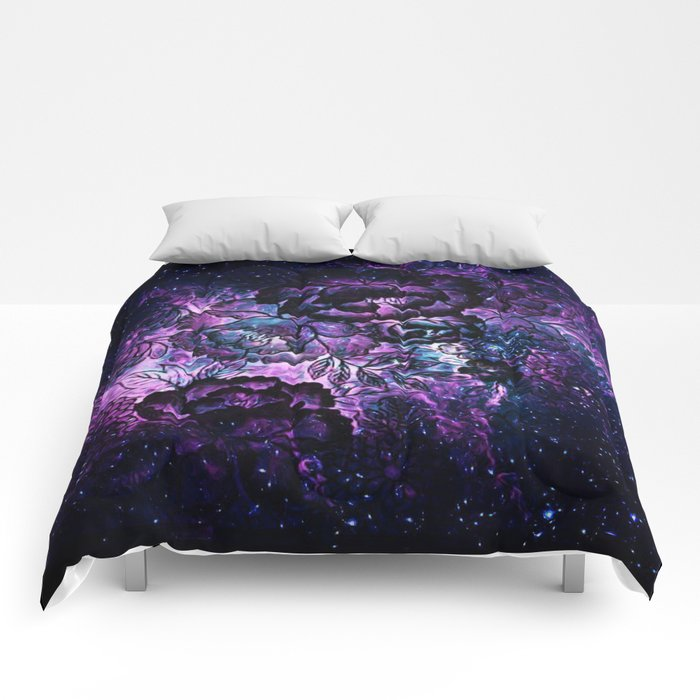 Magical Evening Floral Abstract Comforters