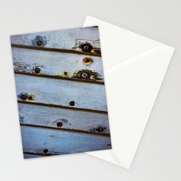 Old White Wooden Boat Stationery Cards