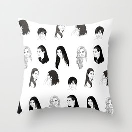 Keeping Up (Black and White) Throw Pillow