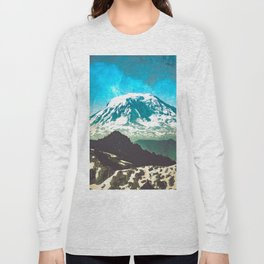 Mt Adams from Mt Rainier Washington State - Nature Photography Long Sleeve T-shirt