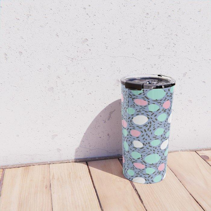 Minimal pastel modern pattern design polka dot dots basic nursery decor Travel Mug