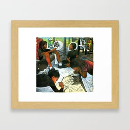 Free Air, Water, And Education Framed Art Print
