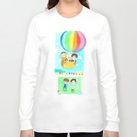 shinee Long Sleeve T-shirts featuring Lucky Star by sophillustration