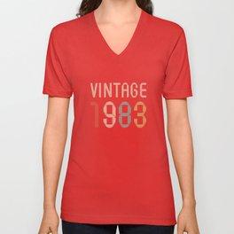 Vintage 1983 Unisex V-Neck