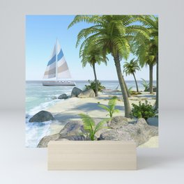 Tropical Island Paradise Mini Art Print