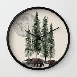 Full Moon Rising Wall Clock