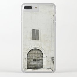 Italian street view Clear iPhone Case
