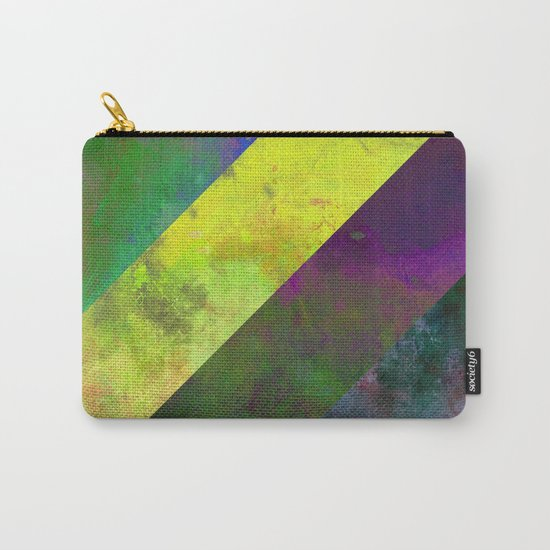 45 Degrees - Abstract, textured, diagonal stripes Carry-All Pouch