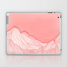 Lines in the mountains - pink Laptop & iPad Skin