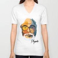hayao miyazaki V-neck T-shirts featuring Miyazaki by zero Bounty