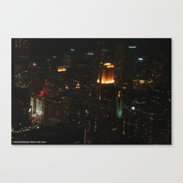Chicago Skyline Light Show (Chicago Architecture Collection) Canvas Print