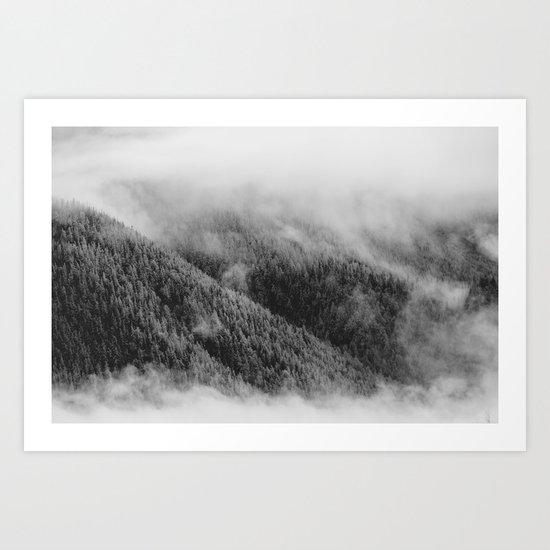 Austrian mountain view Art Print