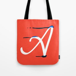Dripping letter A Tote Bag
