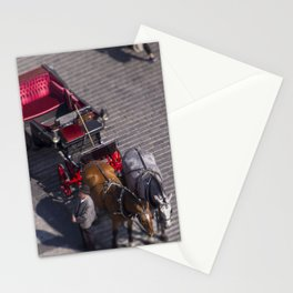 Carriage in Prague Stationery Cards
